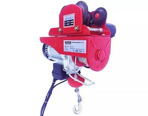 Лебедка 250/500кг электрическая передвижная BOXER ВХ-562 2000ВТ с кареткой