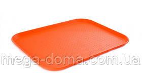 Поднос пластиковый прямоугольный для сервировки в фаст фудах 450*350*20 мм (шт)