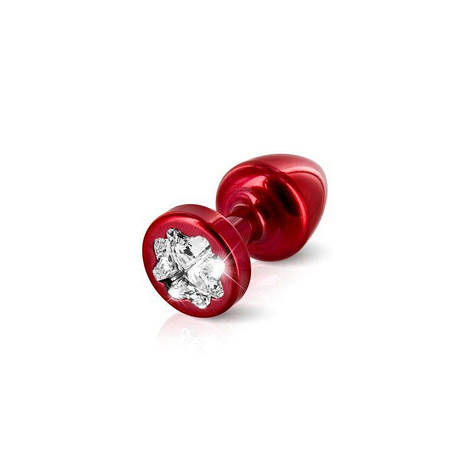 Пробочка Diogol Anni R Clover Red Кристалл 25мм, 4 кристалла Swarovsky в виде листка клевера, фото 2