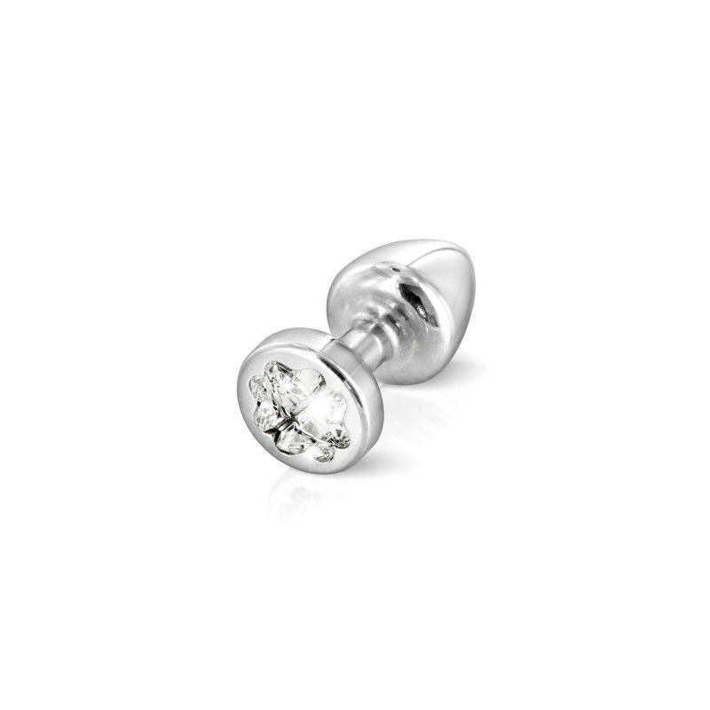 Пробочка Diogol Anni R Clover Silver Кристалл 25мм, 4 кристалла Swarovsky в виде листка клевера