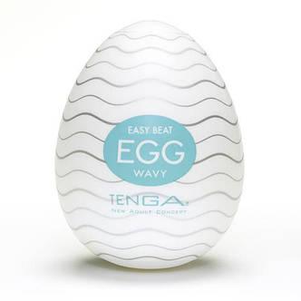 Мастурбатор яйцо Tenga Egg Wavy (Волнистый), фото 2