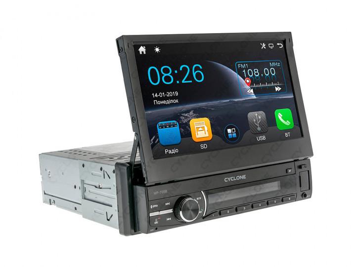 Автомагнитола Cyclone MP-7058 (Bluetooth, USB, SD, дисплей 7*, 1DIN, +пульт, mp5)