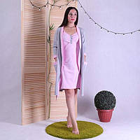 Комплект сорочка и халат для беременных и кормящих мам р 42-56