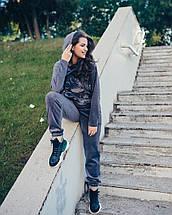 """Женский спортивный велюровый костюм """"Микки"""" с капюшоном, фото 2"""