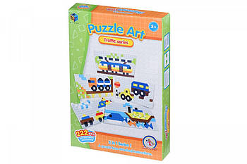 Детские обучающие пазлы-мозаика Same Toy Puzzle Art Traffic serias 222детали (5991-4Ut)