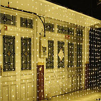 Светодиодная гирлянда LTL Штора Сurtain 6*3 метров 900 led 220v теплое свечение