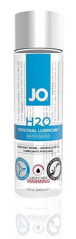 Согревающая смазка на водной основе System JO H2O WARMING (240мл) с экстрактом  перечной мяты, фото 2