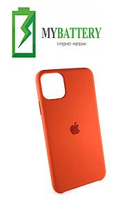 Чехол Silicone Case original (чехол-бампер) iPhone 11 оранжевый (13)