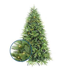 Искусственная елка новогодняя литая пушистая разборная с подставкой цвет LED теплый белый мультиколор 2.1