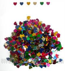 Конфетти сердца фольгированные 200 гр большие
