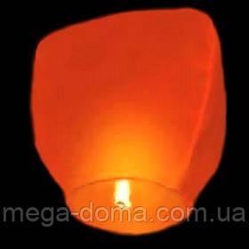 """Небесные фонарики """"Купол"""", ,1 метр ,разных цветов Оранжевый"""