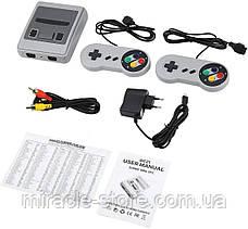 Ігрова ретро приставка 8 біт на 620 ігор Super Mini SFC дитяча ігрова консоль, фото 2