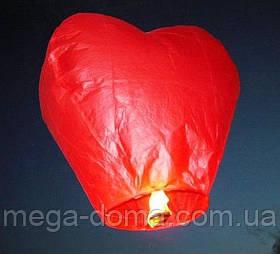 """Небесные фонарики """"Сердце"""", ,1 метр ,разных цветов Красный"""