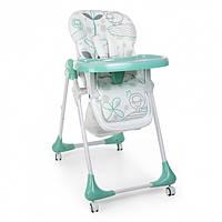Стульчик для кормления Бирюзовый стул для еды для ребенка от 6 мес Детский столик