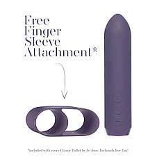 Минивибратор Je Joue - Classic Bullet Vibrator Purple с глубокой вибрацией и фиксацией на палец, фото 3