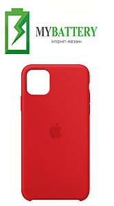 Чехол Silicone Case original (чехол-бампер) iPhone 11 красный (14)