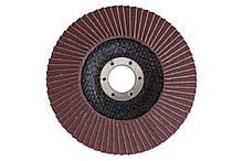 Круг лепестковый торцевой Mastertool - 125 мм x Р80 изогнутый
