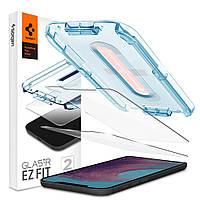Защитное стекло Spigen для iPhone 12 Pro Max EZ FIT GLAS.tR Screen Protector (2 шт), Clear (AGL01791)