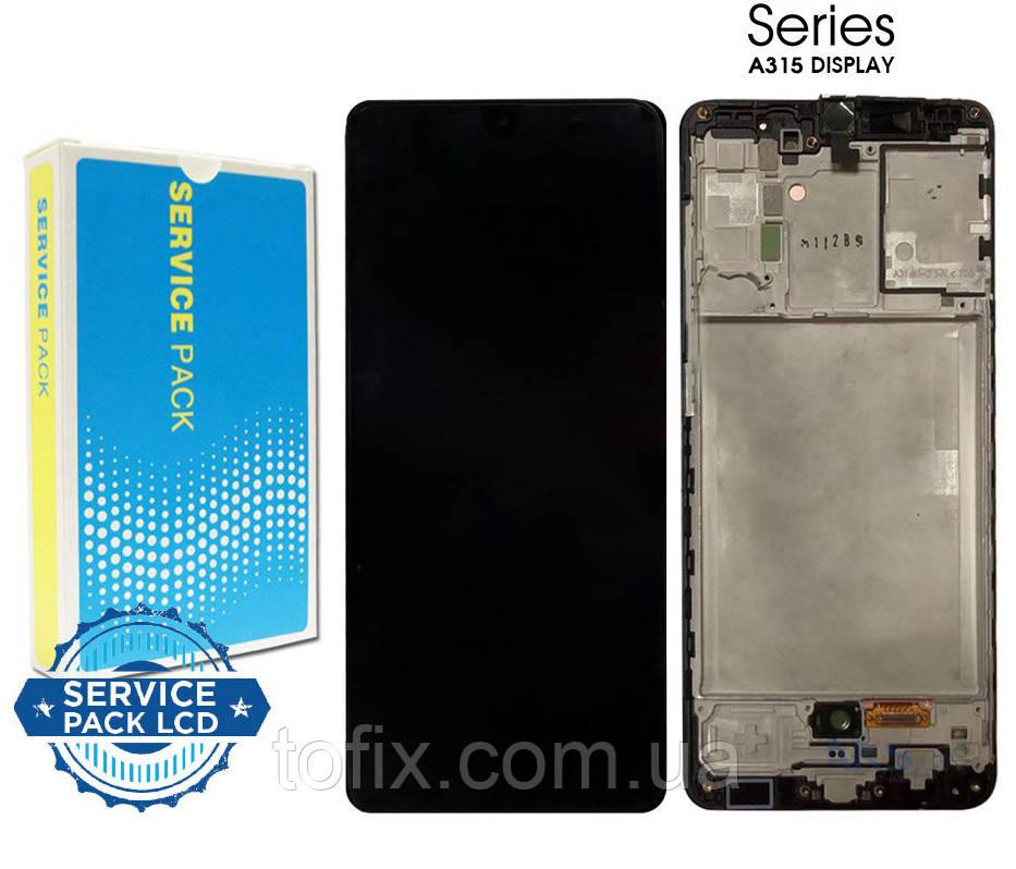 Дисплей для Samsung Galaxy A31 (2020) A315, модуль (экран и сенсор) с рамкой, оригинал GH82-22761A