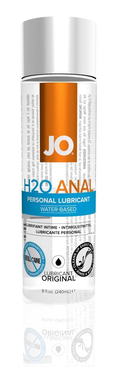 Анальная смазка System JO ANAL H2O - ORIGINAL (240 мл) на водной основе, растительный глицерин