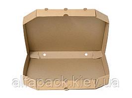 Коробка для пиццы бурая, 300х300х35 мм, упаковка 50 шт, (4,76 грн/шт)