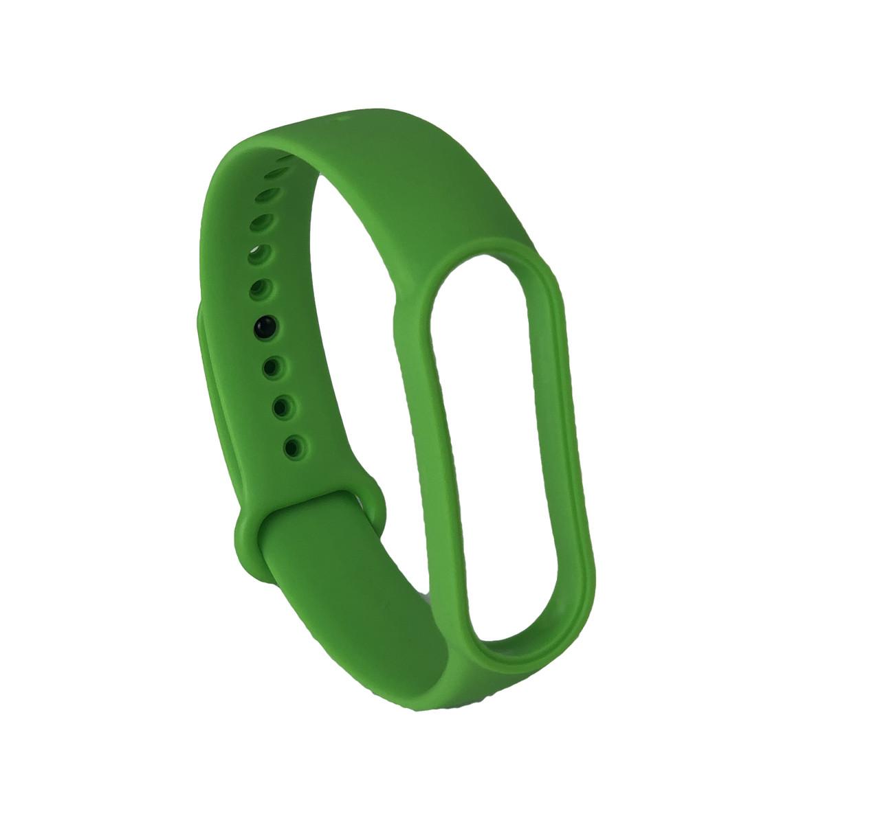 Ремешок силиконовый для Xiaomi Mi Band 5 №19 зеленый