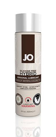 Разогревающая крем-смазка с кокосовым маслом System JO Silicone Free Hybrid WARMING (120 мл) белая, фото 2