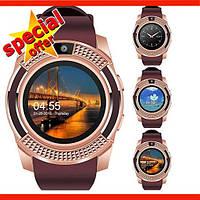 Смарт-часы Smart Watch V8/Умные часы/Спорт часы/Фитнес часы Золотые
