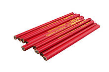 Карандаш Mastertool - столярный 176 мм (12 шт.) красный