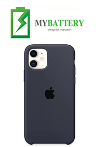 Чехол Silicone Case original (чехол-бампер) iPhone 11 темно-серый (15)