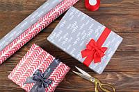 Новогодняя бумага для упаковки подарков 10шт