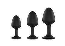 Анальная пробка Dorcel Geisha Plug Diamond XL с шариком внутри, создает вибрации, макс диаметр 4,5см, фото 3