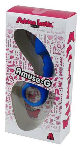 Анальная пробка Adrien Lastic Budy Blue со стимулирующей ножкой, макс. диаметр 2,5см, фото 2
