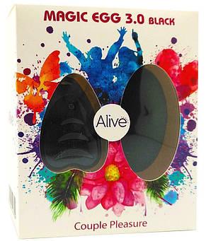 Виброяйцо Alive Magic Egg 3.0 Black с пультом ДУ, фото 2