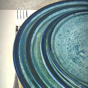 "Бирюзовая турецкая тарелка Kutahya Porselen ""Corendon"" 270 мм (NB3027), фото 2"