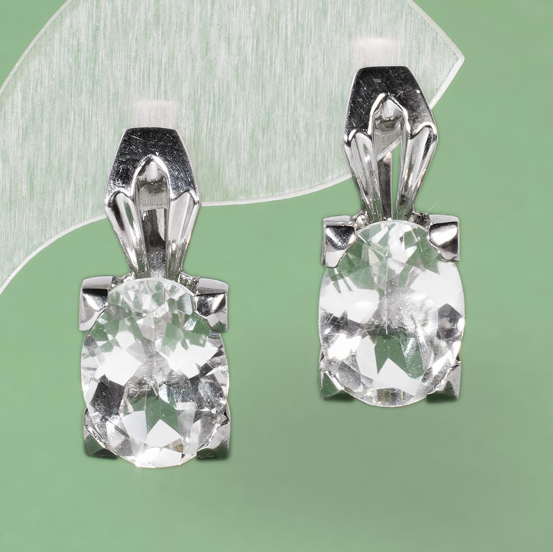 Серебряные серьги с горным хрусталем, 1440СГ
