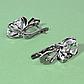 Серебряные серьги с горным хрусталем, 1440СГ, фото 2