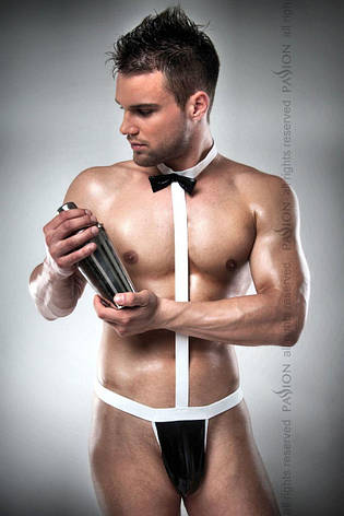 Мужской эротический костюм официанта Passion 021 BODY XXL/XXXL: очень откровенное боди, фото 2