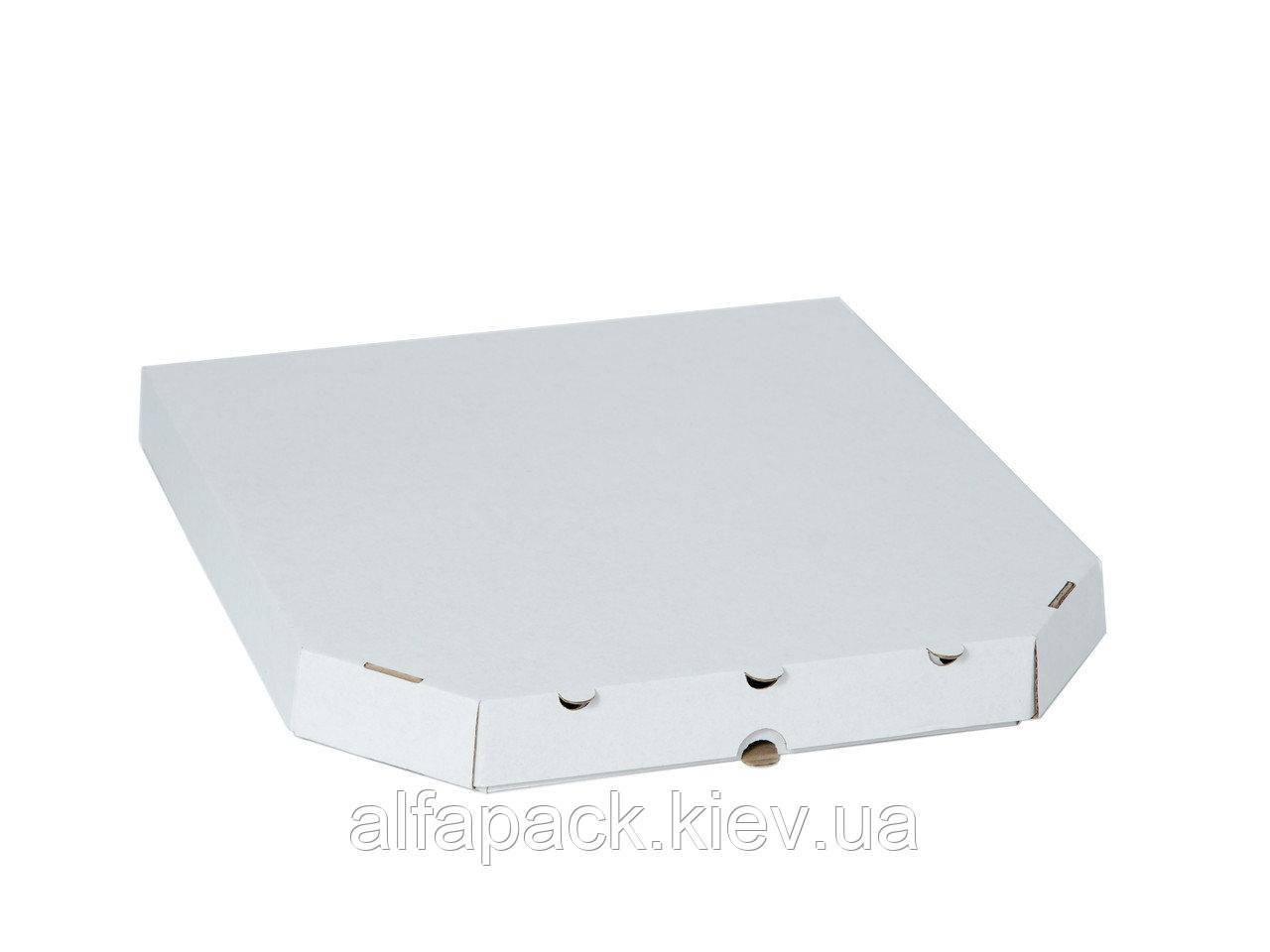Коробка для пиццы белая, 320х320х35 мм, 50 шт.