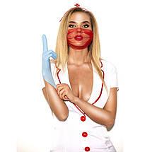 """Эротический костюм медсестры """"Исполнительная Луиза"""" XS/S, халатик, шапочка, перчатки, маска, фото 3"""
