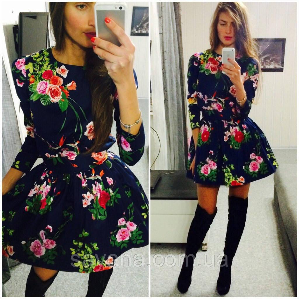 """Шикарное платье """"Цветы"""""""