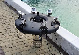 Плаваючий фонтан-аератор Aqua Nova ANFF-55000 з 6-ма кольоровими світильниками