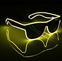 Очки светодиодные  солнцезащитные El Neon ray yellow неоновые, фото 1