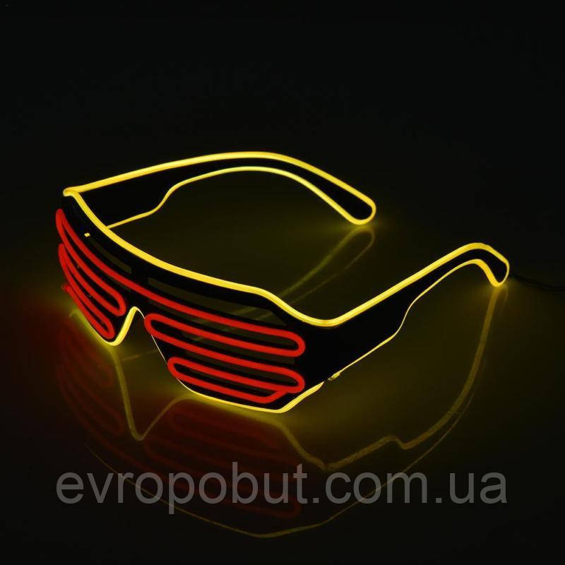Очки светодиодные El Neon spiral red yellow неоновые