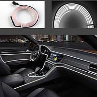Гибкий светодиодный неон LTL для автомобиля 3 метра DC 12v White, фото 1
