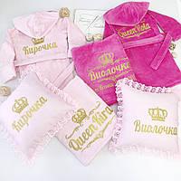 """Детский махровый набор для девочек-двойняшек """"Принцессы"""", фото 1"""