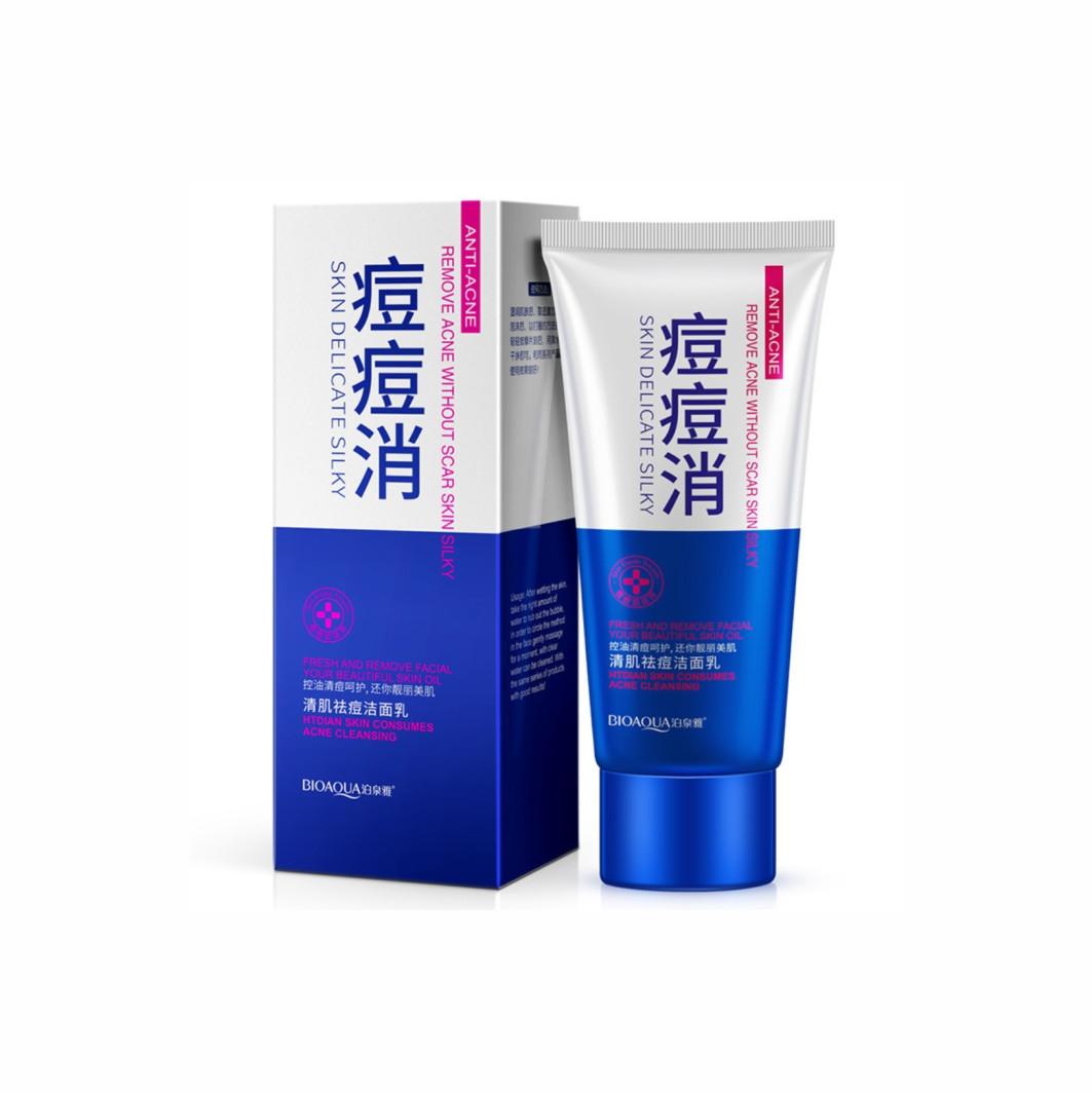 Очистительная пенка для умывания против акне Bioaqua Skin Delicate Silky Anti-Acne