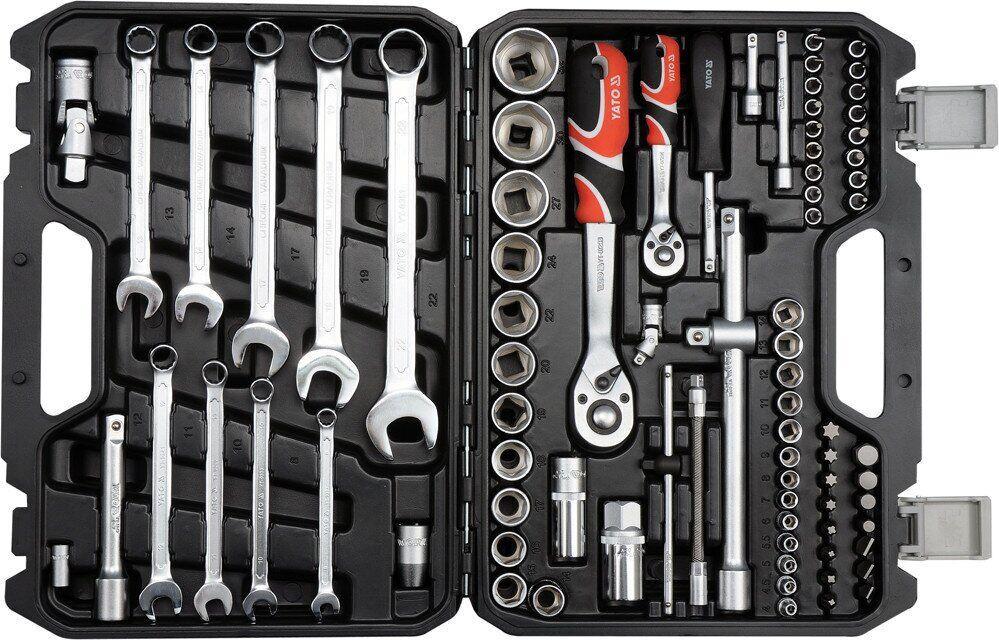 Набор инструментов с ключами 82 эл. YATO YT-12691