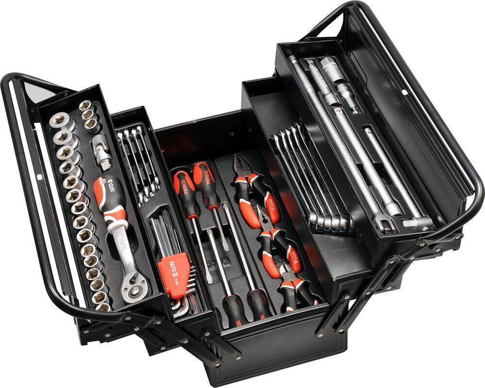 Набор инструмента для авто в ящике 62 эл. YATO YT-3895