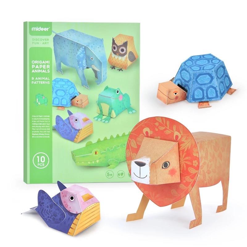 Набор для творчества из бумаги 3D животные оригами Mideer
